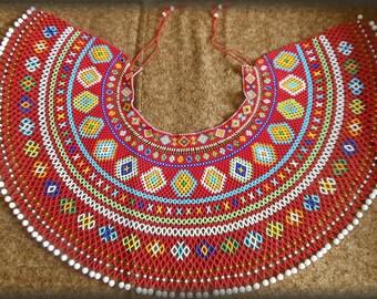 Ukrainian ethnic Traditional necklace Lemko Kryza Folk Ukrainian Gerdan Ukraine necklace Ukrainian style Wide necklace Ukrainian embroidery