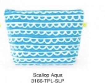 Monogrammed Travel Pouch - Scallop Design