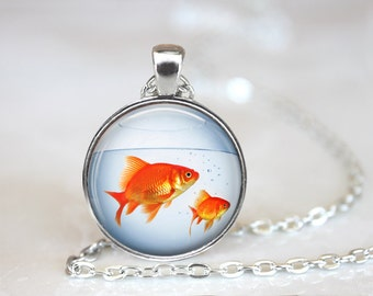 Fish Necklace, Fish Jewelry, Gold Fish Necklace
