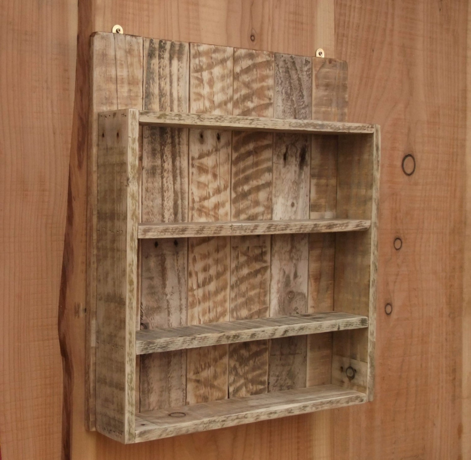 Rustic Spice Rack / Kitchen Shelf / Cabinet Made From