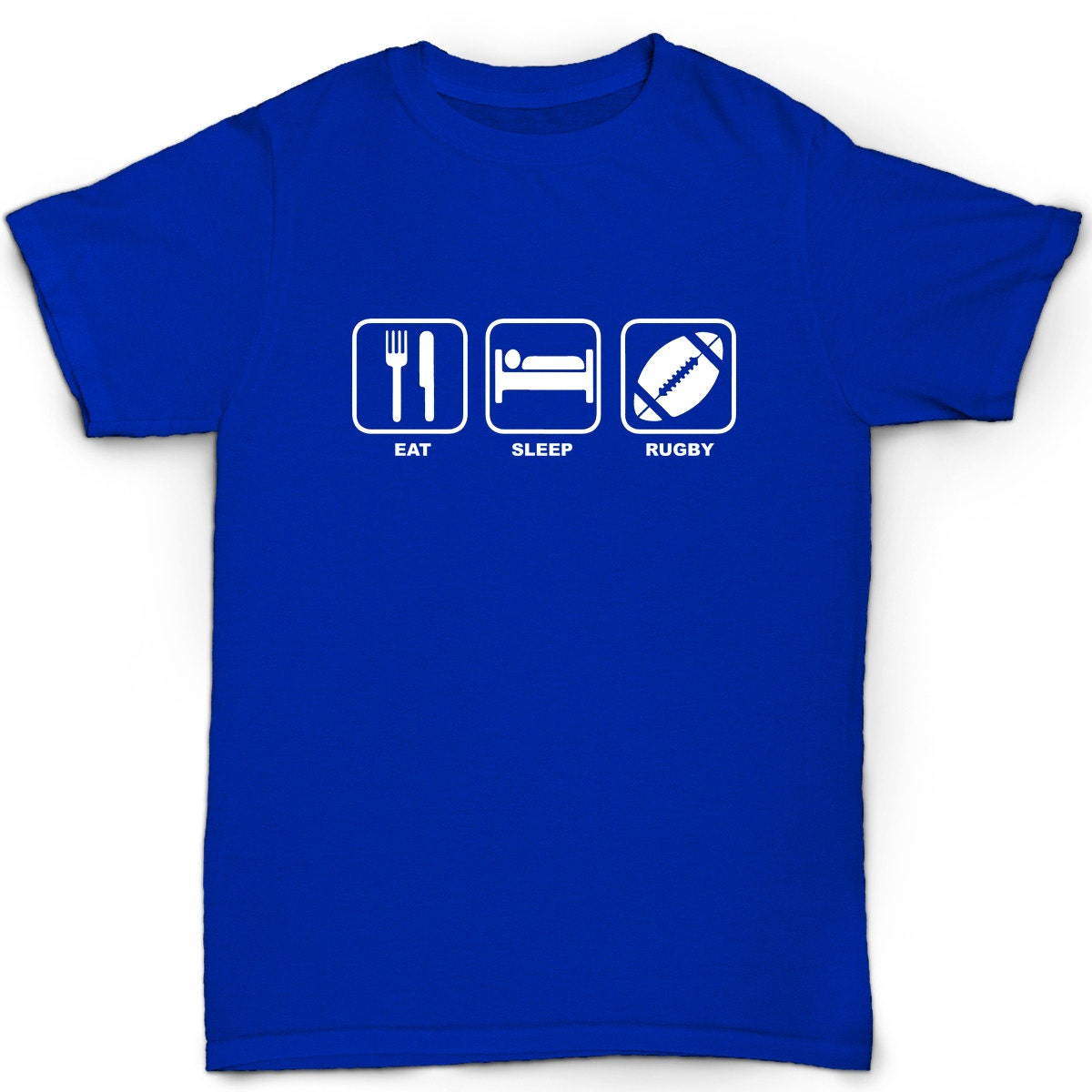 Eat Sleep Rugby Kids T Shirt Funny Humour Birthday Boys
