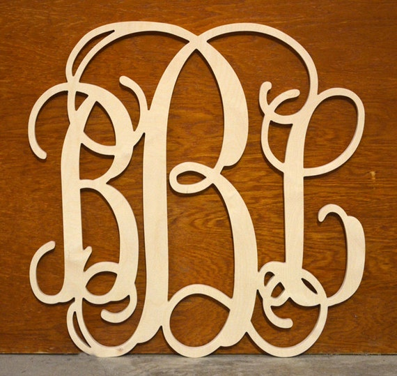 18 Wooden Monogram Wall Letters Wall Hanging Nursery