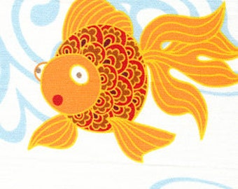 Goldfish Fabric/ 100% Cotton Print Fabric