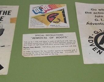 Vintage Lot of 1960 and 70s GI Joe paperwork
