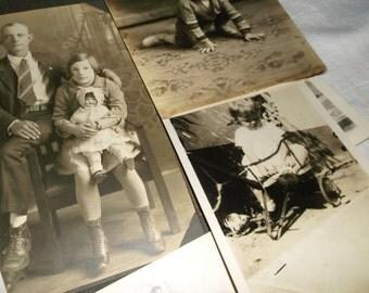 7 Antique black & white Childhood Photos