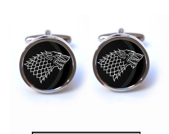 Game of Thrones Cufflinks - House of Stark Cufflinks