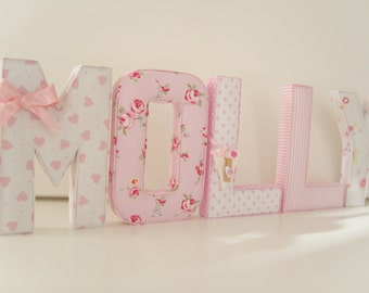 BEAUTIFUL Unique & personal FABRIC LETTERS