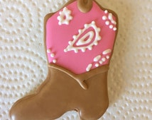 Cowgirl Boot Cookie, Sheriff Callie Cookie