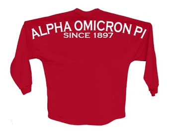 AOII Alpha Omicron Pi Since Jersey Choose Your Colors Sorority Oversized Jersey