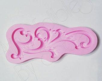 Ornate Scroll Trim Silicone Mold