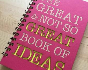 Pink Laser Cut Great Ideas Journal Notebook
