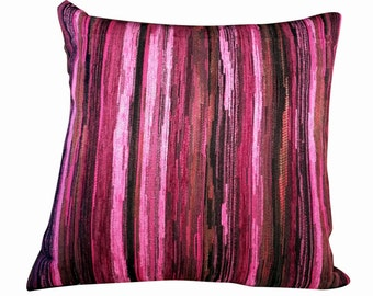 Throw pillow, pillow cover, decorative pillow cover, textured pillow cover,cushion cover, Pink & Black  pillow, 16X16 pillow cover