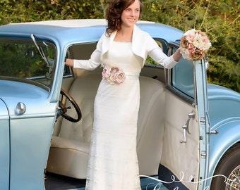 Bridal Sash-Couture Sashes. Shabby Chic Bridal Sash, Maternity Sash, Photography Prop
