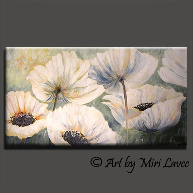 White Peony Flower Art Peonies Art Painting White