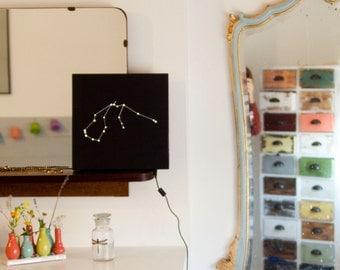 lighting / stars / constellation / zodiac / acquarium / home decor / lamp / handmade / design / wood