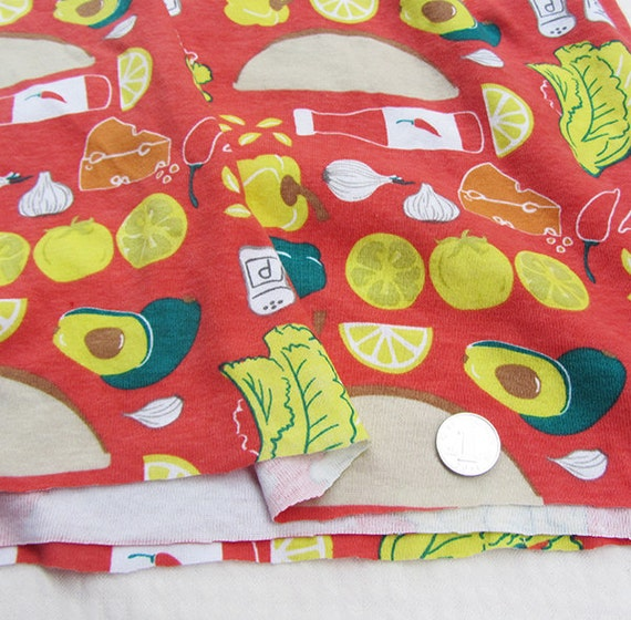 Cute kids baby print knit rib fabric kitchen by for Cute baby fabric prints