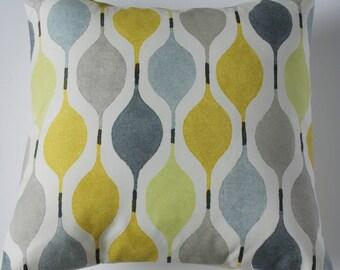 "Retro Bright Yellow Grey Green Decorative Home Decor Pillow Cushion Cover 16"""