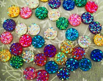 20 Rhinestone Faceted Flatback Gems