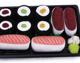 Sushi Socks Box 5 pairs Salmon Tuna Cucumber Maki Oshinko Maki Tuna Maki Cool Gift Present Gadget