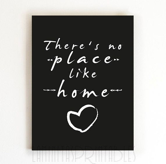 There's No Place Like Home Quote Prints Printable Art