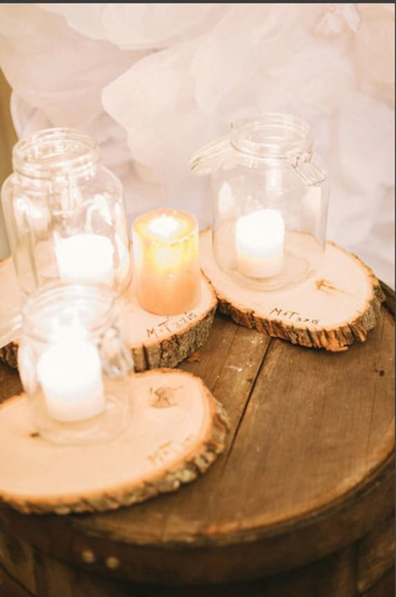 Items similar to custom wedding centerpiece wood slice