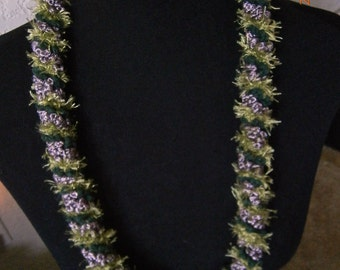 Lei: Purple and Sage - SOLD