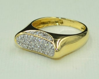 Diasmond Ring 18k yellow gold
