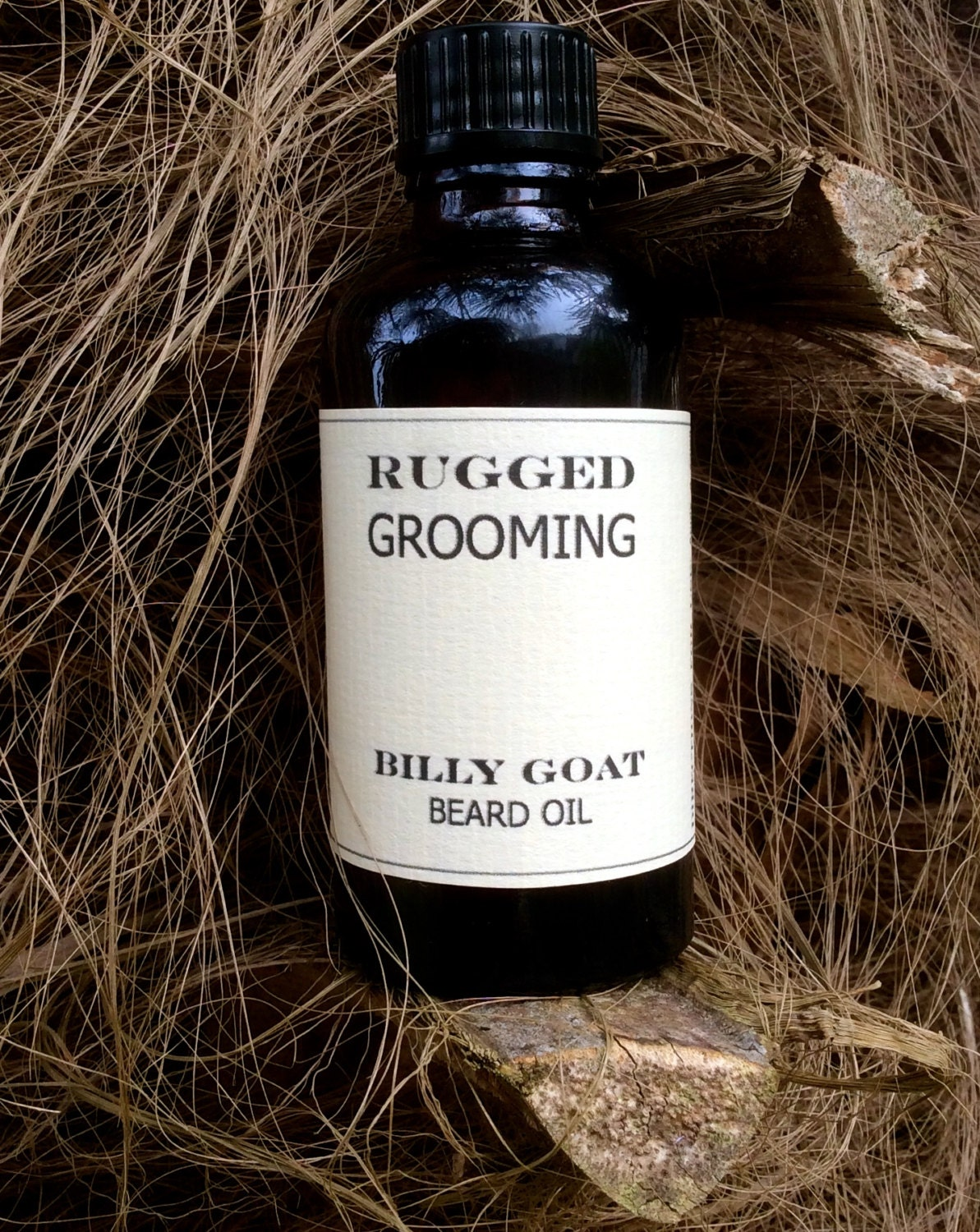billy goat beard oil rugged grooming by ruggedgrooming on etsy. Black Bedroom Furniture Sets. Home Design Ideas
