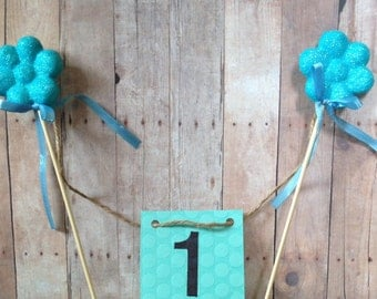 Baby First 1st Birthday Cake Banner Bunting Centerpiece Decoration Display Boy or Girl