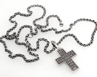 Handmade Sterling Silver Necklace(Black)
