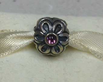 Authentic Pandora SIlver Zinia Rhodolite #790953RHL