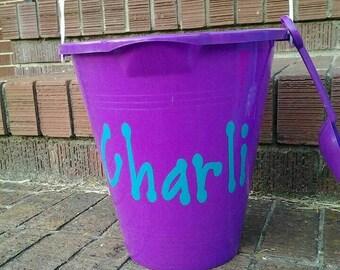 Sand bucket name label