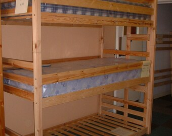 Three high bunk beds