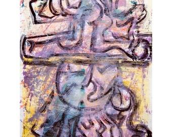 E for Love Series #1. Giclee Fine Art Print, Abstract Art, Wall Art, Home Office Decor