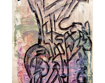 L for Love Series #1.  Giclee Fine Art Print, Abstract Art, Wall Art, Home Office Decor