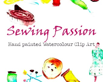 Sewing Passion Watercolour