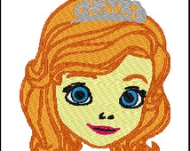 Sofia the First Embroidery Design