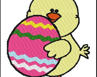 Chick Egg Embroidery Design