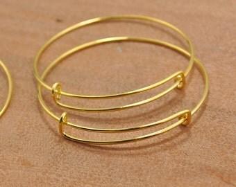 Wholesale Adjustable Bangle Bracelet,100pcs Gold adjustable bangle bracelet blanks expandable bangle bracelets charm bracelet popular style