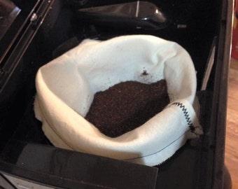 Reusable Cotton Coffee Filters, Reusable,  Standard sizes, Set of 3
