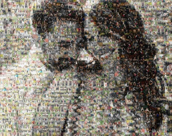 Photo Mosaic - Print on Photo Paper - Various Sizes - Personalized Gift - Family Portrait - Anniversary Gift