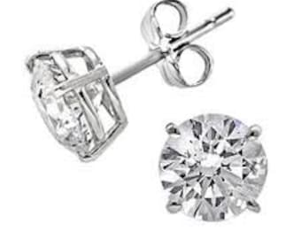 Classic CZ Stud Earrings