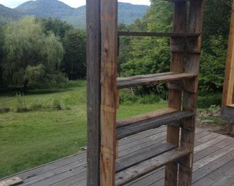 Reclaimed Cedar Book Shelf
