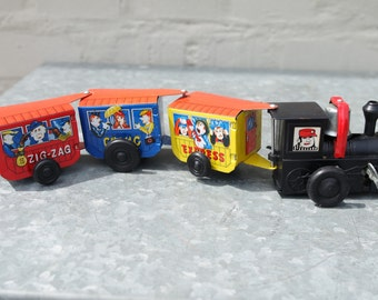 Vintage 50' small mechanical toy train