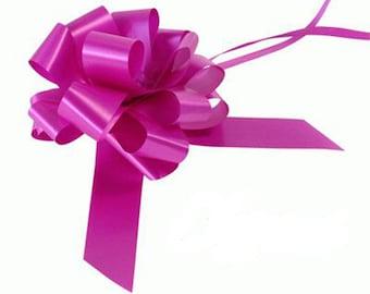 3 Bow Wedding Car Kit in Fuchsia - 3 Bows and Ribbon