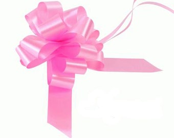 5 Bow Wedding Car Kit in Classic Pink - 5 Bows and Ribbon
