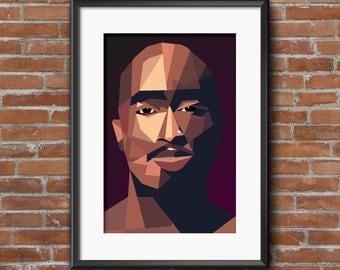 Tupac 297mm x420mm  Print