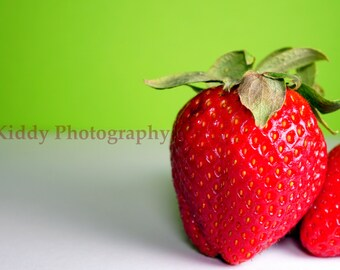 Colored Strawberries  print (various sizes)