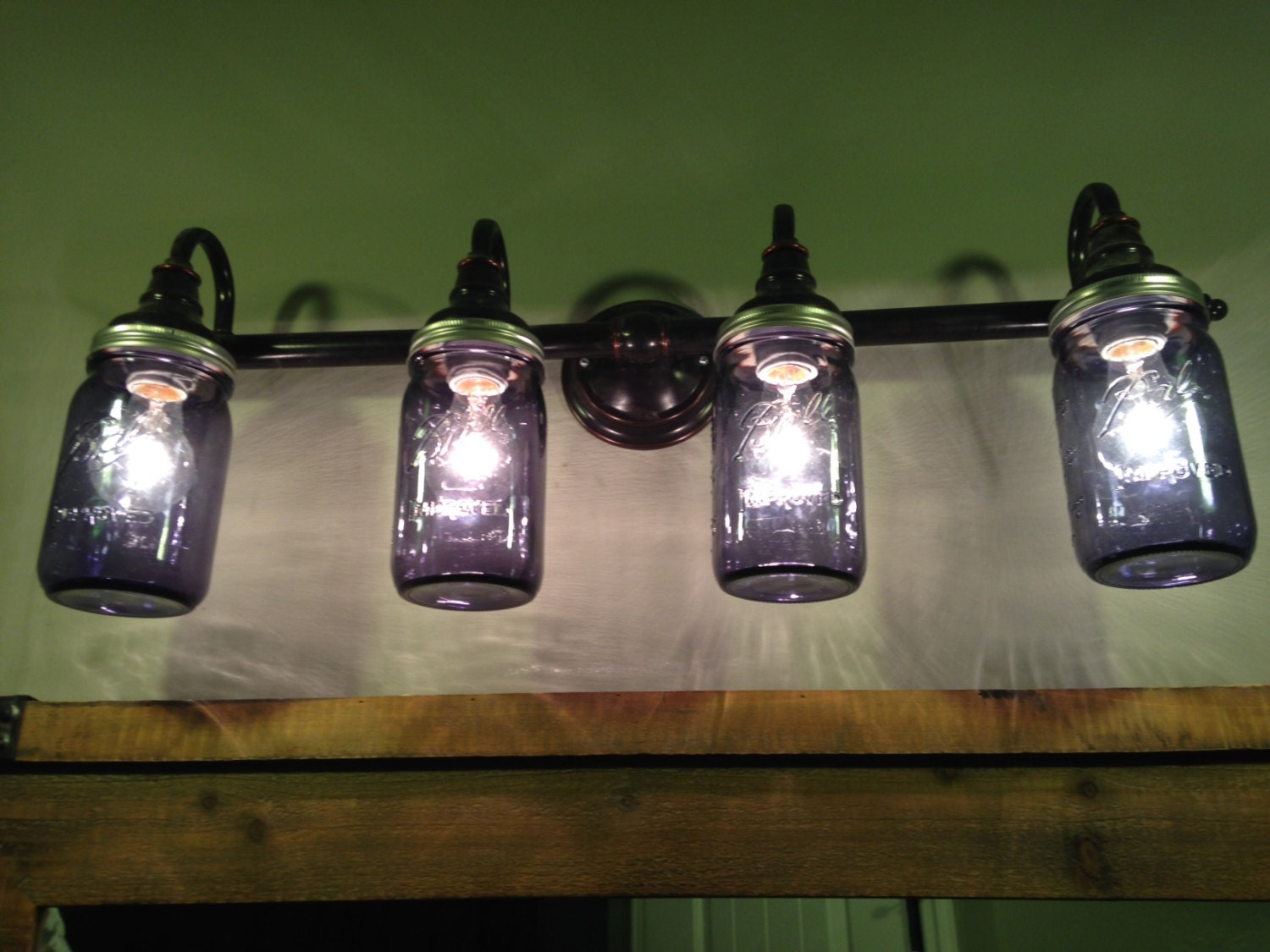 How High To Set Vanity Lights : Mason Jar Lights Bathroom Lighting Vanity Lights Green
