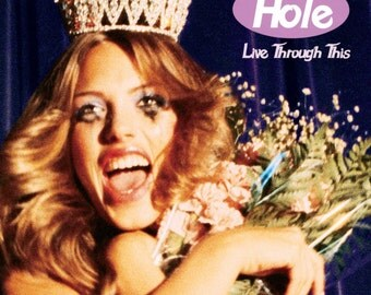 Hole - Live Through This (1994) - Print with Black Card Frame and Mount (21cm x 21cm)